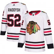 Adidas Chicago Blackhawks 52 Darren Raddysh Authentic White Away Men's NHL Jersey