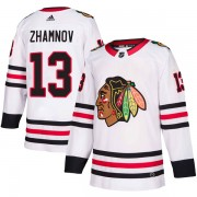 Adidas Chicago Blackhawks 13 Alex Zhamnov Authentic White Away Men's NHL Jersey