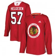 Adidas Chicago Blackhawks 57 Kenton Helgesen Authentic Red Home Practice Youth NHL Jersey