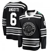 Fanatics Branded Chicago Blackhawks 6 Lou Angotti Black 2019 Winter Classic Breakaway Youth NHL Jersey