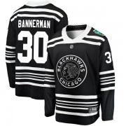 Fanatics Branded Chicago Blackhawks 30 Murray Bannerman Black 2019 Winter Classic Breakaway Youth NHL Jersey