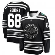 Fanatics Branded Chicago Blackhawks 68 Radovan Bondra Black 2019 Winter Classic Breakaway Youth NHL Jersey