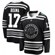 Fanatics Branded Chicago Blackhawks 17 Lance Bouma Black 2019 Winter Classic Breakaway Youth NHL Jersey