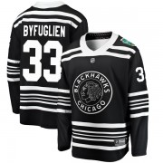 Fanatics Branded Chicago Blackhawks 33 Dustin Byfuglien Black 2019 Winter Classic Breakaway Youth NHL Jersey