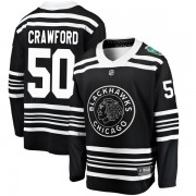 Fanatics Branded Chicago Blackhawks 50 Corey Crawford Black 2019 Winter Classic Breakaway Youth NHL Jersey
