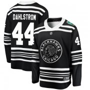 Fanatics Branded Chicago Blackhawks 44 John Dahlstrom Black 2019 Winter Classic Breakaway Youth NHL Jersey