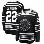 Fanatics Branded Chicago Blackhawks 22 Brandon Davidson Black 2019 Winter Classic Breakaway Youth NHL Jersey