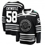 Fanatics Branded Chicago Blackhawks 58 Mackenzie Entwistle Black ized 2019 Winter Classic Breakaway Youth NHL Jersey