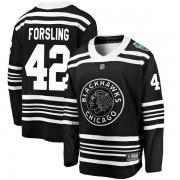 Fanatics Branded Chicago Blackhawks 42 Gustav Forsling Black 2019 Winter Classic Breakaway Youth NHL Jersey