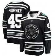 Fanatics Branded Chicago Blackhawks 45 Dillon Fournier Black 2019 Winter Classic Breakaway Youth NHL Jersey