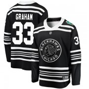 Fanatics Branded Chicago Blackhawks 33 Dirk Graham Black 2019 Winter Classic Breakaway Youth NHL Jersey