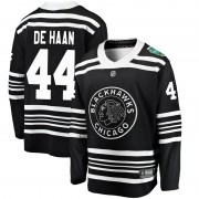 Fanatics Branded Chicago Blackhawks 44 Calvin de Haan Black 2019 Winter Classic Breakaway Youth NHL Jersey