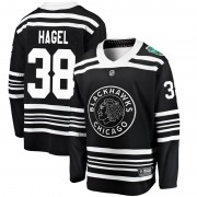 Fanatics Branded Chicago Blackhawks 38 Brandon Hagel Black 2019 Winter Classic Breakaway Youth NHL Jersey