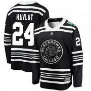Fanatics Branded Chicago Blackhawks 24 Martin Havlat Black 2019 Winter Classic Breakaway Youth NHL Jersey
