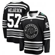 Fanatics Branded Chicago Blackhawks 57 Kenton Helgesen Black 2019 Winter Classic Breakaway Youth NHL Jersey