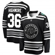 Fanatics Branded Chicago Blackhawks 36 Matthew Highmore Black 2019 Winter Classic Breakaway Youth NHL Jersey