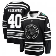 Fanatics Branded Chicago Blackhawks 40 Jake Hildebrand Black 2019 Winter Classic Breakaway Youth NHL Jersey