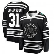 Fanatics Branded Chicago Blackhawks 31 Lars Johansson Black 2019 Winter Classic Breakaway Youth NHL Jersey