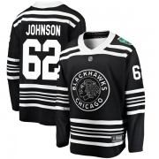 Fanatics Branded Chicago Blackhawks 62 Luke Johnson Black 2019 Winter Classic Breakaway Youth NHL Jersey