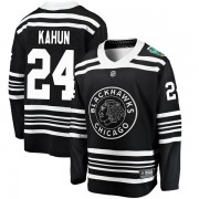 Fanatics Branded Chicago Blackhawks 24 Dominik Kahun Black 2019 Winter Classic Breakaway Youth NHL Jersey