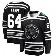 Fanatics Branded Chicago Blackhawks 64 David Kampf Black 2019 Winter Classic Breakaway Youth NHL Jersey