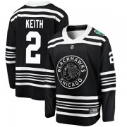 Fanatics Branded Chicago Blackhawks 2 Duncan Keith Black 2019 Winter Classic Breakaway Youth NHL Jersey