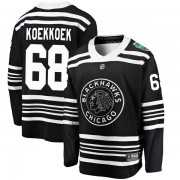Fanatics Branded Chicago Blackhawks 68 Slater Koekkoek Black 2019 Winter Classic Breakaway Youth NHL Jersey