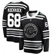 Fanatics Branded Chicago Blackhawks 68 Slater Koekkoek Black 2019 Winter Classic Breakaway Youth NHL Jersey