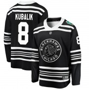 Fanatics Branded Chicago Blackhawks 8 Dominik Kubalik Black 2019 Winter Classic Breakaway Youth NHL Jersey