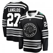 Fanatics Branded Chicago Blackhawks 27 Jeremy Langlois Black 2019 Winter Classic Breakaway Youth NHL Jersey