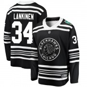 Fanatics Branded Chicago Blackhawks 34 Kevin Lankinen Black 2019 Winter Classic Breakaway Youth NHL Jersey
