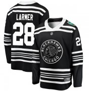 Fanatics Branded Chicago Blackhawks 28 Steve Larmer Black 2019 Winter Classic Breakaway Youth NHL Jersey