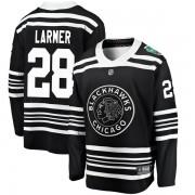 Fanatics Branded Chicago Blackhawks 28 Steve Larmer Black 2019 Winter Classic Breakaway Youth NHL Jersey