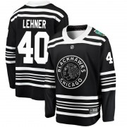 Fanatics Branded Chicago Blackhawks 40 Robin Lehner Black 2019 Winter Classic Breakaway Youth NHL Jersey