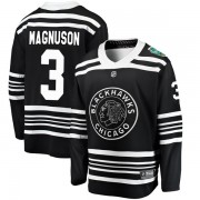Fanatics Branded Chicago Blackhawks 3 Keith Magnuson Black 2019 Winter Classic Breakaway Youth NHL Jersey
