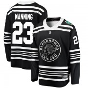 Fanatics Branded Chicago Blackhawks 23 Brandon Manning Black 2019 Winter Classic Breakaway Youth NHL Jersey
