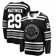 Fanatics Branded Chicago Blackhawks 29 Andreas Martinsen Black 2019 Winter Classic Breakaway Youth NHL Jersey
