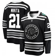 Fanatics Branded Chicago Blackhawks 21 Stan Mikita Black 2019 Winter Classic Breakaway Youth NHL Jersey