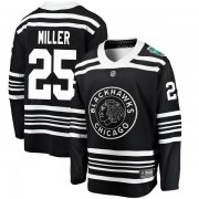 Fanatics Branded Chicago Blackhawks 25 Drew Miller Black 2019 Winter Classic Breakaway Youth NHL Jersey