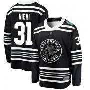 Fanatics Branded Chicago Blackhawks 31 Antti Niemi Black 2019 Winter Classic Breakaway Youth NHL Jersey