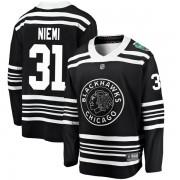 Fanatics Branded Chicago Blackhawks 31 Antti Niemi Black 2019 Winter Classic Breakaway Youth NHL Jersey