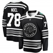 Fanatics Branded Chicago Blackhawks 78 Nathan Noel Black 2019 Winter Classic Breakaway Youth NHL Jersey