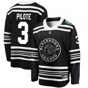 Fanatics Branded Chicago Blackhawks 3 Pierre Pilote Black 2019 Winter Classic Breakaway Youth NHL Jersey