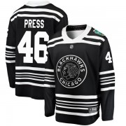 Fanatics Branded Chicago Blackhawks 46 Robin Press Black 2019 Winter Classic Breakaway Youth NHL Jersey