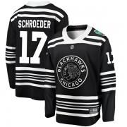 Fanatics Branded Chicago Blackhawks 17 Jordan Schroeder Black 2019 Winter Classic Breakaway Youth NHL Jersey