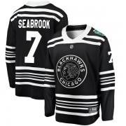 Fanatics Branded Chicago Blackhawks 7 Brent Seabrook Black 2019 Winter Classic Breakaway Youth NHL Jersey
