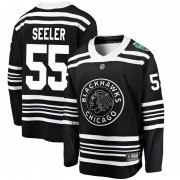 Fanatics Branded Chicago Blackhawks 55 Nick Seeler Black 2019 Winter Classic Breakaway Youth NHL Jersey