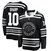 Fanatics Branded Chicago Blackhawks 10 Patrick Sharp Black 2019 Winter Classic Breakaway Youth NHL Jersey