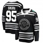 Fanatics Branded Chicago Blackhawks 95 Dylan Sikura Black 2019 Winter Classic Breakaway Youth NHL Jersey