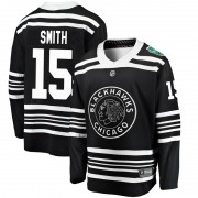 Fanatics Branded Chicago Blackhawks 15 Zack Smith Black 2019 Winter Classic Breakaway Youth NHL Jersey